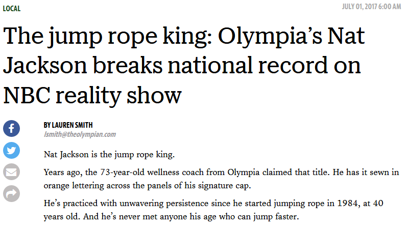 The Olympian jump rope king article screen clip
